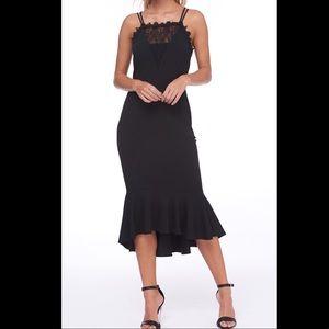 ABS Collection Scallop Trim HalterNeck Jrs Dress